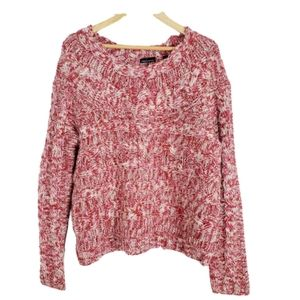 MODA INT. CABLE KNIT SWEATER MOHAIR WOOL BLEND